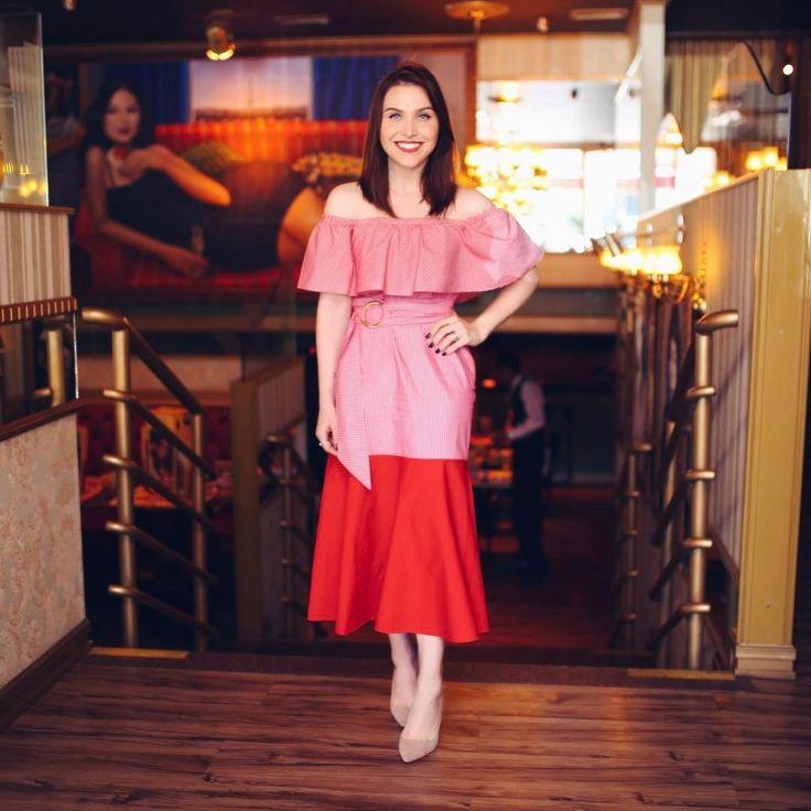 """""""Look de hoje pro almoço #partyatthemall com vestido @bianza_oficial e scarpin antiguinho Luiza Barcelos #ootd #fashion"""""""