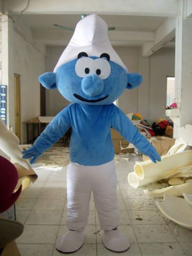 Smurf Mascot Costume Cartoon Character Adult Complete Outfit Fancy Dress #Unbranded #CompleteOutfit