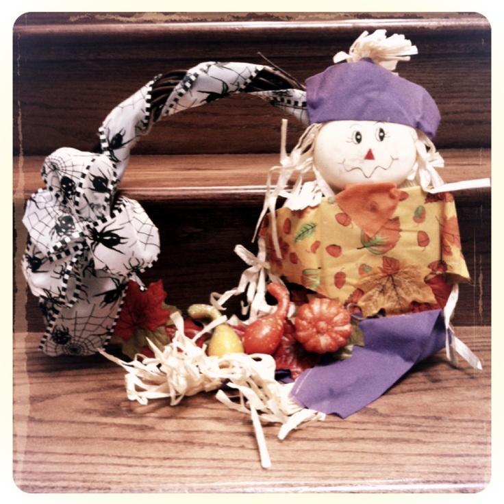Dollar tree items become cute wreath!