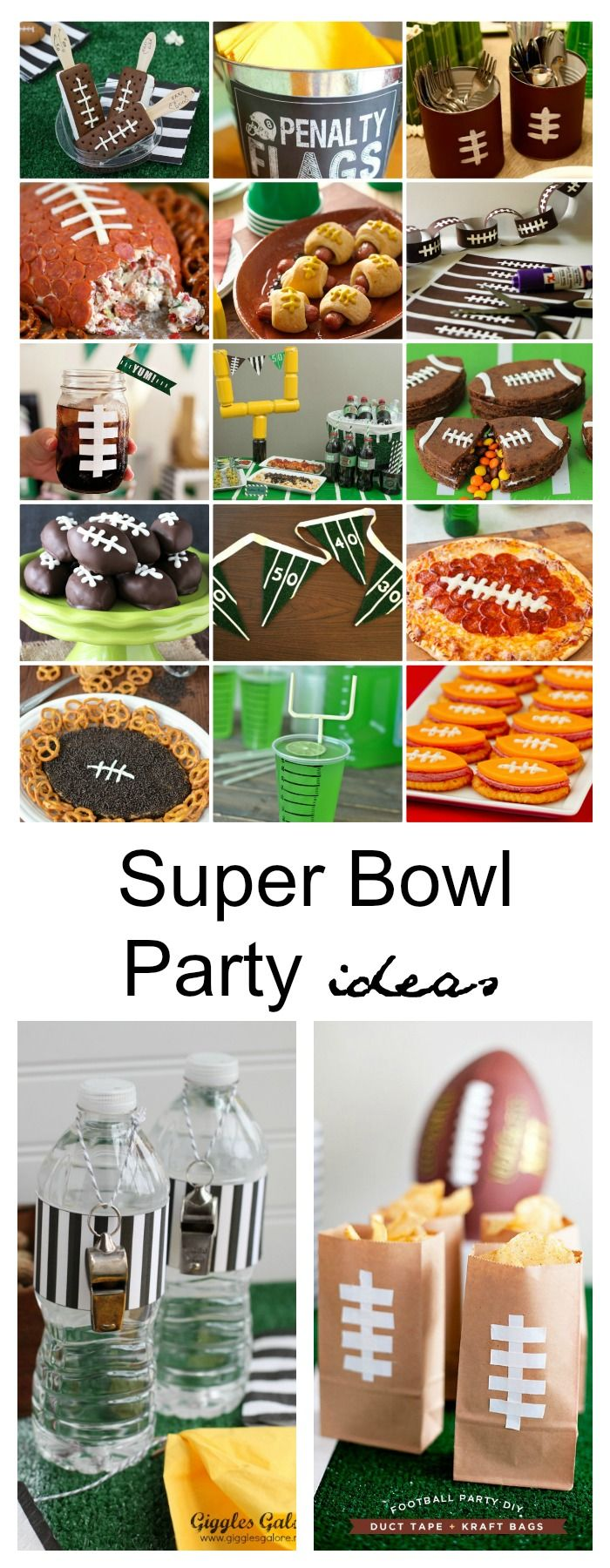 When planning a Super Bowl Party, don't you think the decorations and food are almost as important as the commercials and oh yeah…. the game! Sharing some Super Bowl Party Ideas that are sure to get you inspired to start planning for your get together.