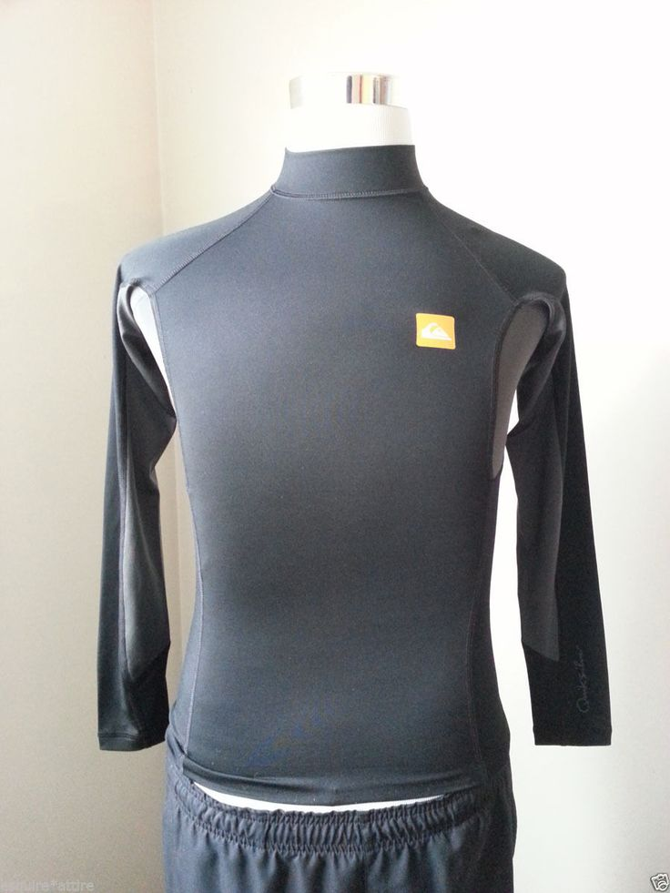 #men style Quicksilver men size XS long sleeve black rashguard  sun protection UPF 50  withing our EBAY store at  http://stores.ebay.com/esquirestore