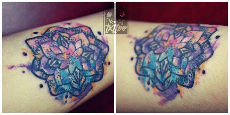 ~Watercolor tattoo of a Mandala with dotwork, made on the forearm~ (Tatuaje en acuarela de un Mandala con dotwork, hecho en el antebrazo)  #love #photooftheday #beautiful #happy #picoftheday #followme #art #repost #style #smile #likeforlike #tattoo #nature #inked #inkaholic #bogotaink #tatuajes #dreamtxttoo #tatts #tattoo #tattoolifestyle #tattoolove #tattoostagram #tattoowork #tattooink #tattooartist #tattooer #tattootime #intenzeink #inkaddict