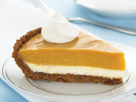 Double-Layer Pumpkin Cheesecake Pie | Cute Food | Pinterest