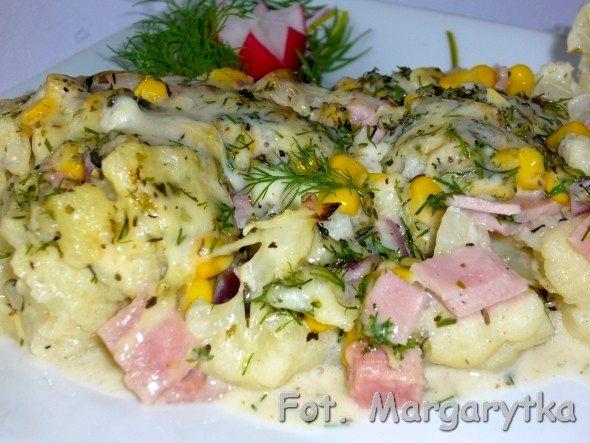 Kulinarne szaleństwa Margarytki: Kalafior zapiekany w sosie serowym