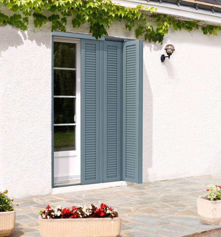Contraventana plegable / de aluminio / para puerta MoveOn Ehret GmbH