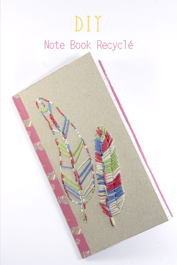 DIY note book recyclé (with beautiful free printable papers)