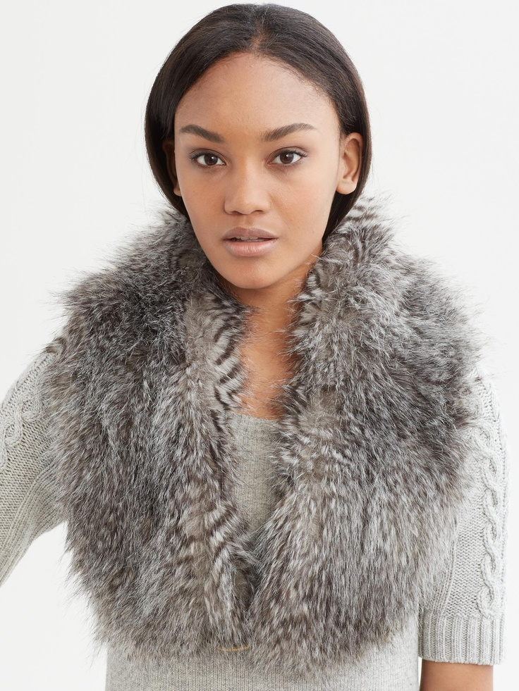 BRAnnaK BananaRepublic | Sonia faux-fur stole. How BR took the fabulous fur