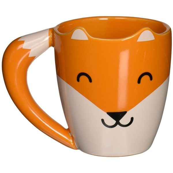 Amazon.com: Thumbs Up FOXMUG Ceramic Fox Shaped Mug, Orange: Kitchen &... ($28) ❤ liked on Polyvore featuring home, kitchen & dining, drinkware, fox mug, ceramic mugs and orange mugs