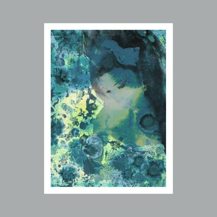 Portrait of Amy Winehouse after Klimt (Blue) by Sue Quinn | Unframed | The Block Shop - Channel 9