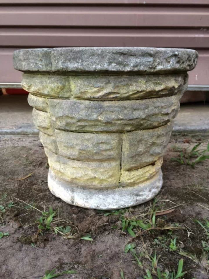 176 Best Images About Vintage Concrete Pots On Pinterest