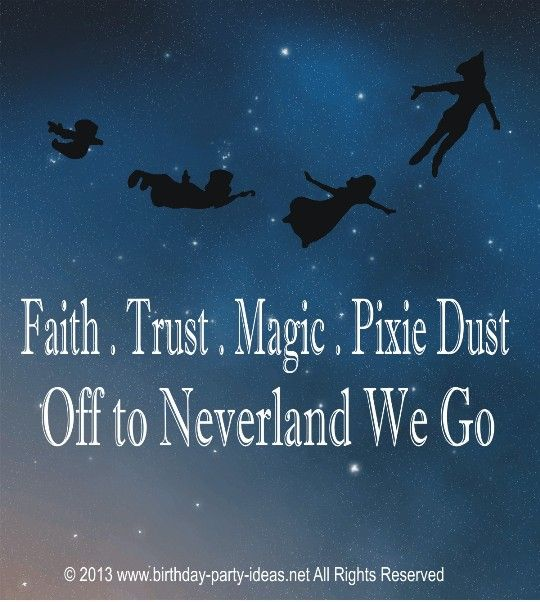 Peter Pan Quotes: 104 Best Images About Peter Pan Party On Pinterest