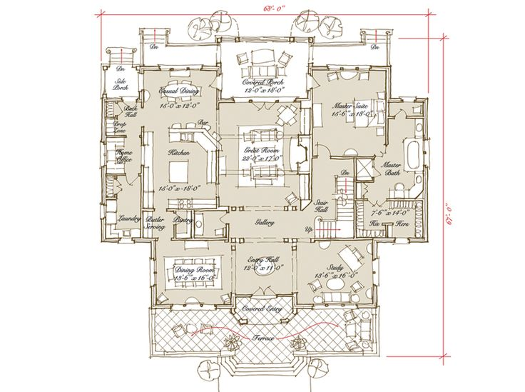 House Plan Hardwick Hall Stephen Fuller Inc