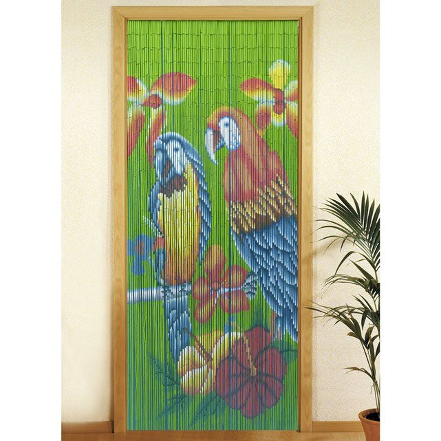 Rideau de porte - Bambou - Perroquet WENKO