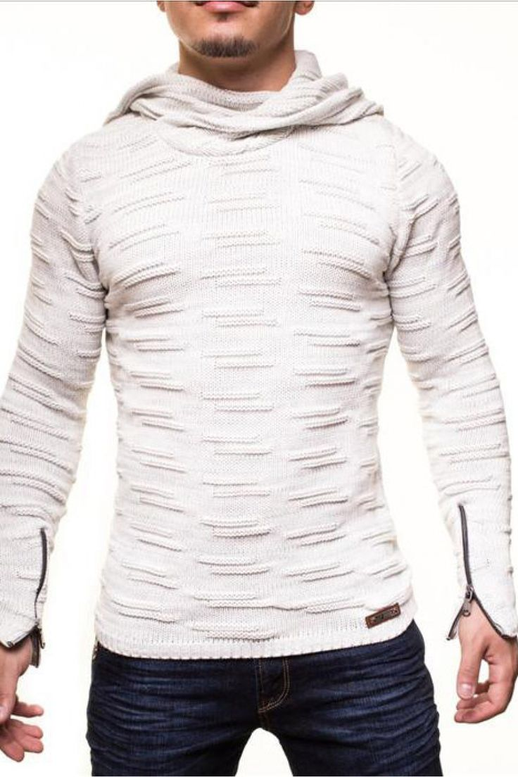Nice Sweter Męski Model 16737 White - YourNewStyle Check more at http://www.brandsforless.gr/shop/men/sweter-meski-model-16737-white-yournewstyle/