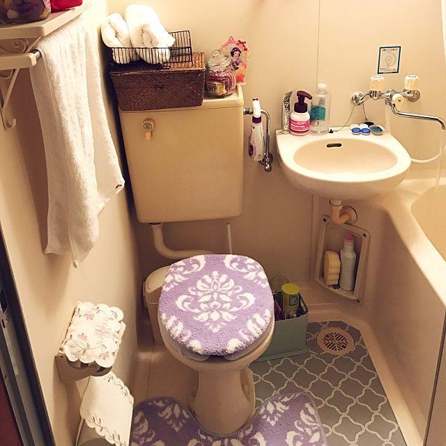 バス トイレ しまむら 100均 一人暮らし 3coins などのインテリア実例 2016 11 04 00 20 47 Roomclip ルームクリップ インテリア インテリア 実例 ユニットバス
