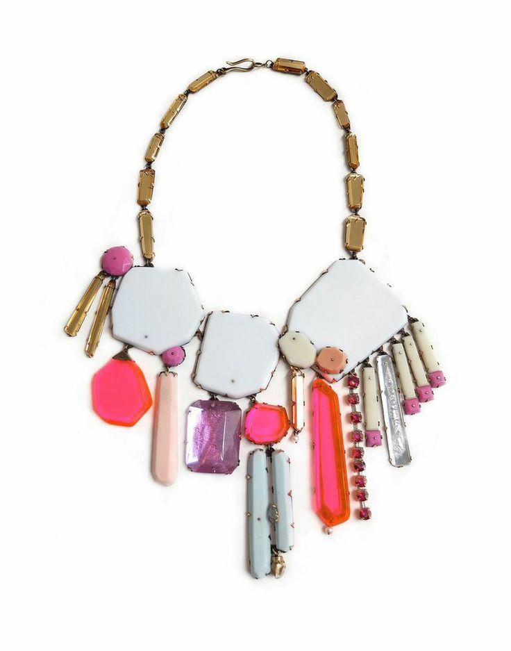 "Nikki Couppee, CA., ""I am a jewelry artist/metalsmith working in plexiglass, acrylic resin, brass and steel."""