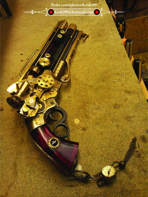 Steampunk Officer Pistol by Dave Crook