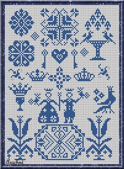 Toile royale cross-stitch - free