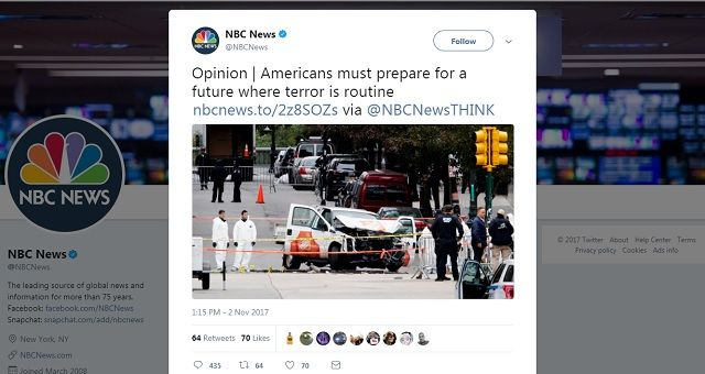 Americans must prepare to live with constant, 'routine' terrorist attacks, because deportations and closed borders is 'not who we are,' so says NBC News
