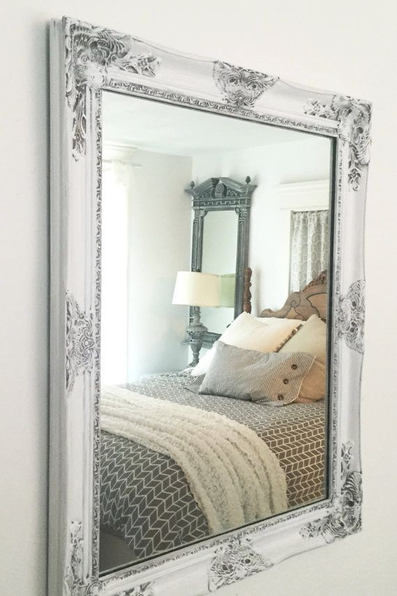 Images On White Shabby Chic Distressed Framed Mirror