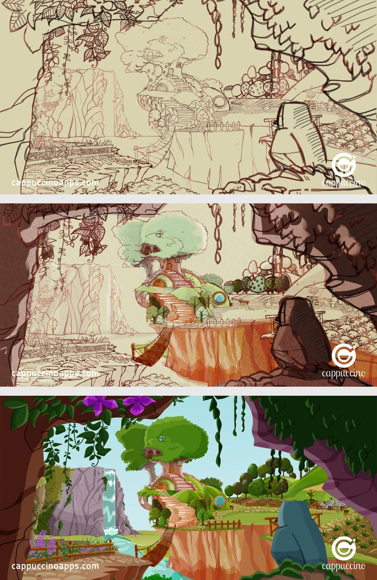 Take a look at our sketchbook art: a step-by-step sketch of our Ogre's house. See more beautiful scenes like this in our storybook app: https://itunes.apple.com/it/app/italian-tales-nino-3-magic/id675561790?l=en&mt=8