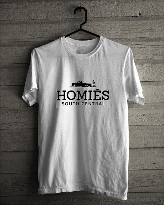 homies south central logo tshirt for men and women by Starttliving