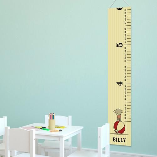 Kids Canvas Height Chart - Circus Prince
