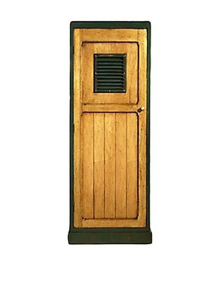 French Heritage Country Club Golf Locker, Antique Cherry with English Green