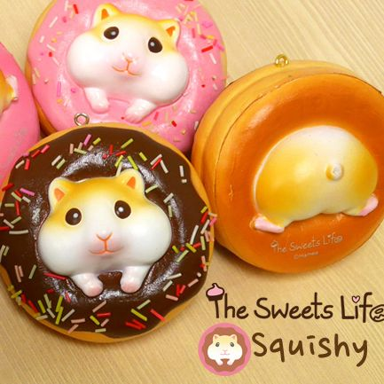 The Sweets Life Licensed Hamster Donut Squishy