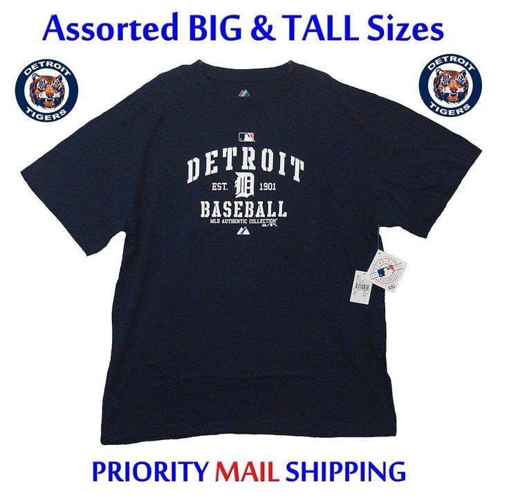 Detroit Tigers Big & Tall T-Shirts Majestic MLB Authentic Collection NEW/NWT #Majestic #DetroitTigers #Tigers #Big&Tall