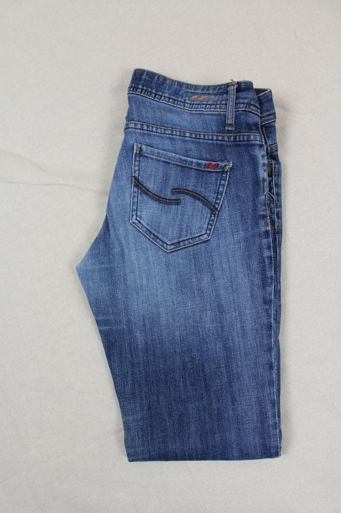 QS by oliver CATIE slim low straight womens jeans W40 L32 #QSbyoliver #StraightLeg