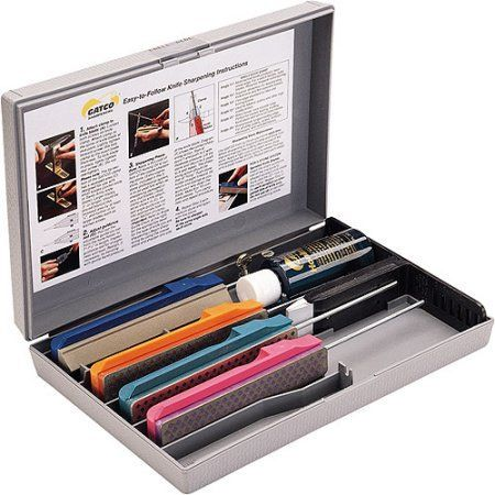 Gatco 4-stone Diamond knife sharpening system, Multicolor