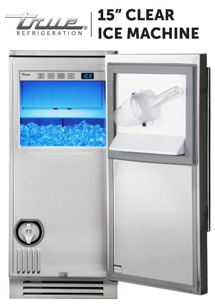 This undercounter ice machine is the highest-performing, most energy-efficient clear ice machine available to homeowners. With our patented TruLumina Lighting System and UL-rated for both indoor and outdoor use, it's an incredibly convenient, energy-efficient, beautiful machine.