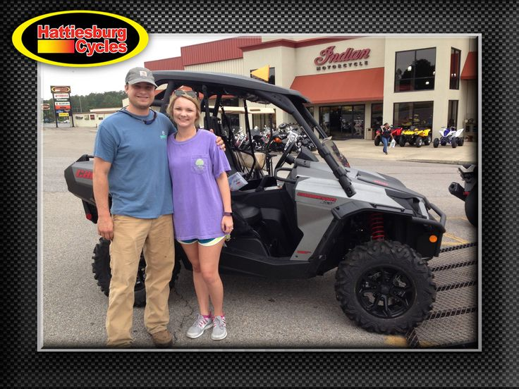 Thank you Tyler and Chelsea Pierce from Philadelphia MS for getting a 2017 Can-Am Commander XT 800. #canam