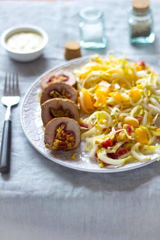 Olijven tapenade bresaola gevulde varkenshaas recept. Een recept voor het weekend wanneer je eens wat anders wilt. Met frisse witlof salade.