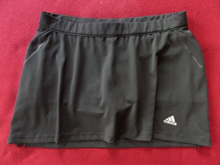Adidas Supernova Womens Black Logo Sports Athletic Tennis Skirt Skort size M #adidas #SkirtsSkortsDresses