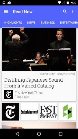Google Play Newsstand Screenshots