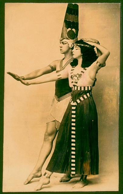 Ruth St. Denis and Ted Shawn, Egyptian ballet by Chickeyonthego, via Flickr