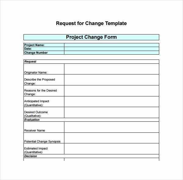 Change Request Form Template Excel Elegant Sample Change Log Template 6 Free Documents In Pdf Templates Change Request