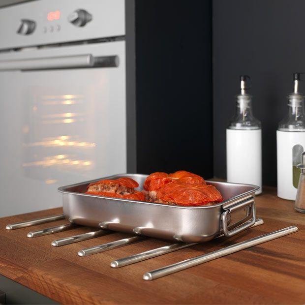 Jeu de 6 baguettes repose plat lapeyre cuisine - Repose plat pour plan de travail ...