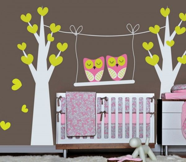 .Little Girls, Owls Nurseries, Night Owls, Girls Room, Wall Decal, Owls Theme, Baby Girls, Baby Room, Wall Stickers