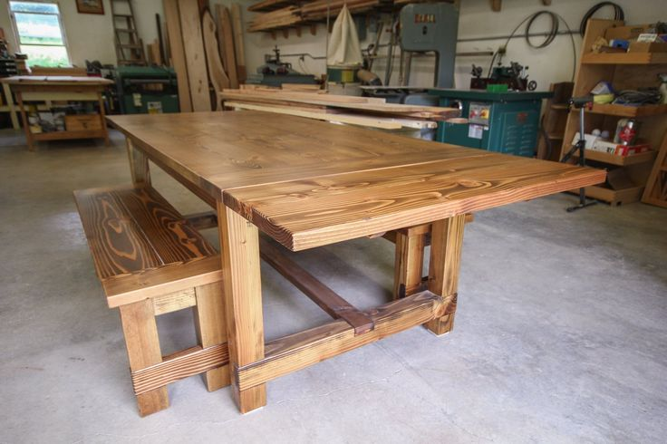 Farmhouse table from Robert Kane Woodworking - I have one of these in my house & we LOVE it! May have finally found a table that looks awesome AND stands up to my 3 boys!!
