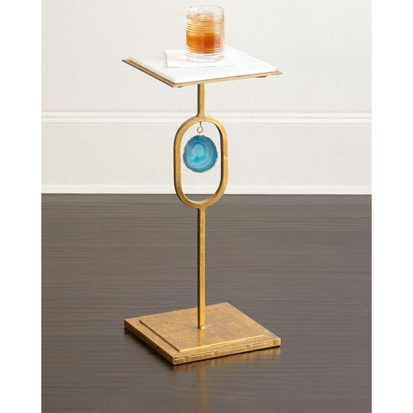 Regina Andrew Design Eve Teal Agate Side Table (18,535 PHP) ❤ Liked On. Marble  Top ...