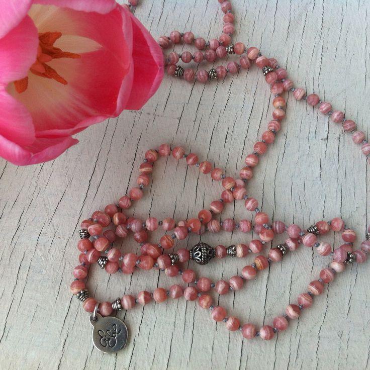 Rodocrosite handmade necklace  collane fatte a mano con pietre semi-preziose argento 925