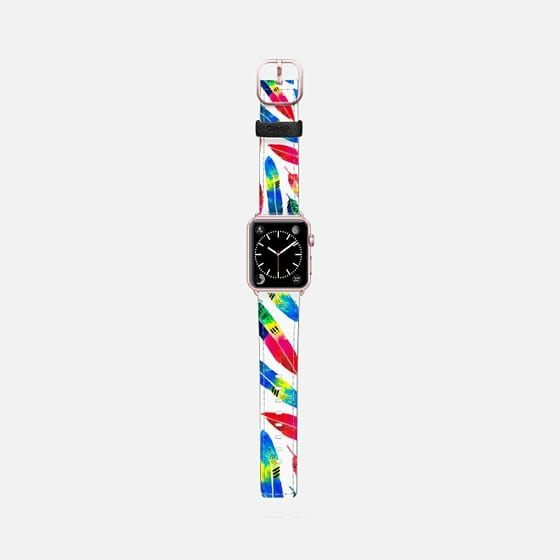 Tropical Quills - Saffiano Leather Watch Band  @casetify #casetifyartist #casetifyart #art #watchband #fashion #fashionblog #fashionista #accessories #parrot #color #tropical