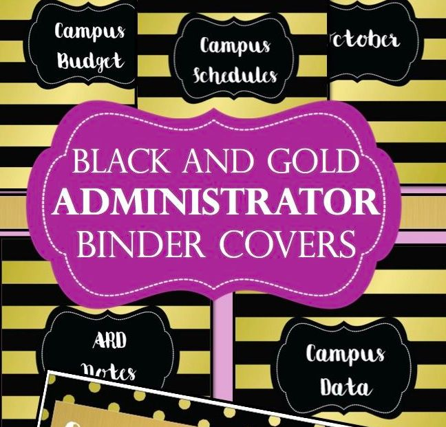 Administrator Binder Covers- Black and Gold