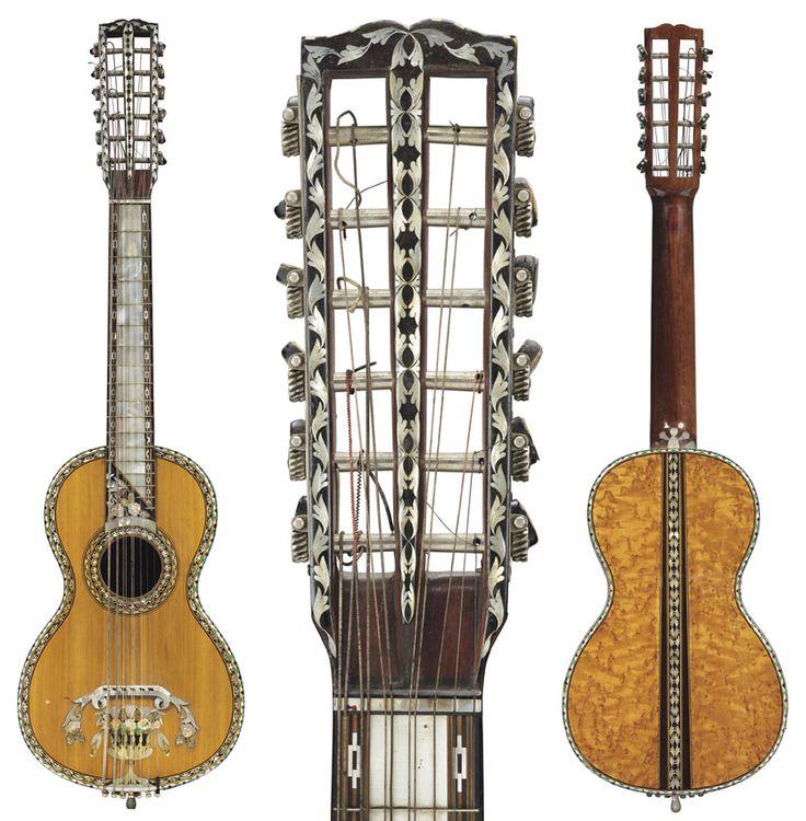 Guitarra romántica de 1890
