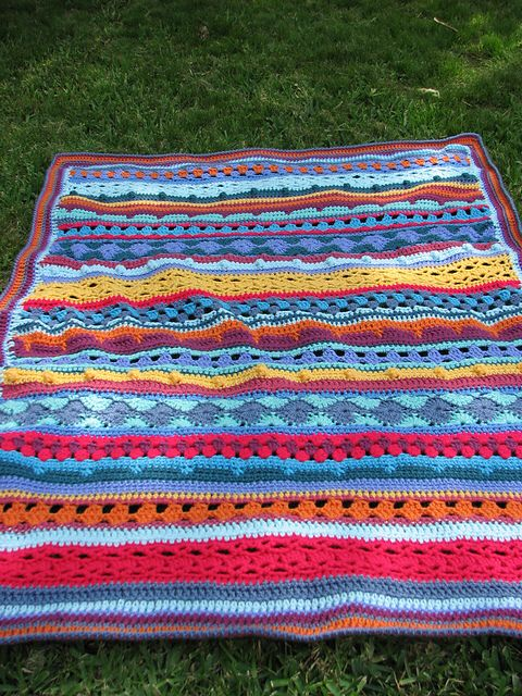 Mixed stitch blanket of my own design- a super fun project.  http://ravel.me/MargRaff/mscb