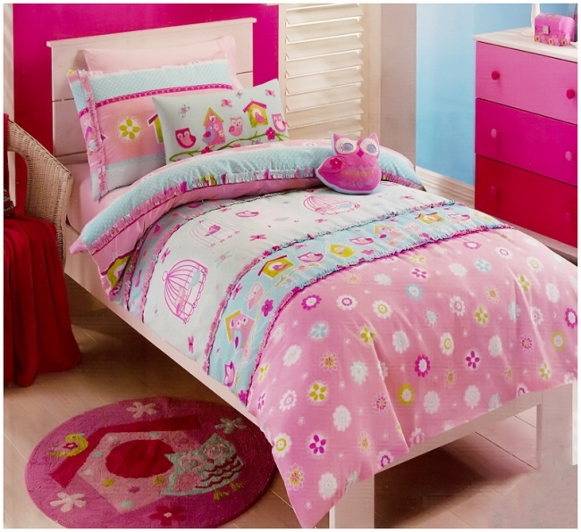 Birdcage #Owl Quilt Cover Set Available In Single, Double And Queen Bed  Sizes From