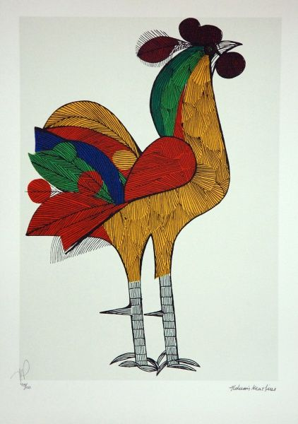 Aldemir Martins, Galo - gravura 98/100 - med. 50 x 35 c..
